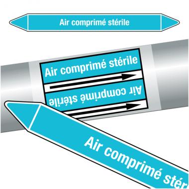 """Marqueurs de tuyauteries CLP """"Air comprimé stérile"""" (Air)"""