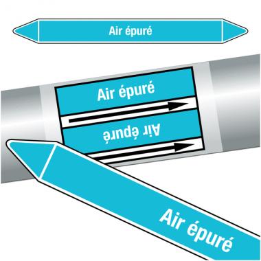 """Marqueurs de tuyauteries CLP """"Air épuré"""" (Air)"""