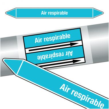 "Marqueurs de tuyauteries CLP ""Air respirable"" (Air)"