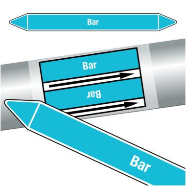 """Marqueurs de tuyauteries CLP """"Bar"""" (Air)"""