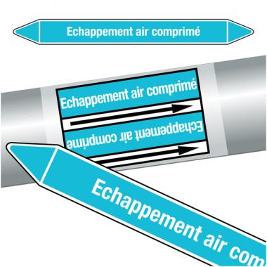 """Marqueurs de tuyauteries CLP """"Echappement air comprimé"""" (Air)"""
