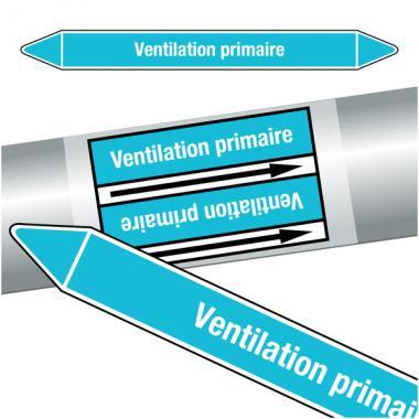 """Marqueurs de tuyauteries CLP """"Ventilation primaire"""" (Air)"""