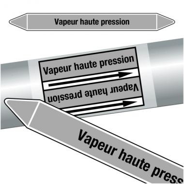 """Marqueurs de tuyauteries CLP """"Vapeur haute pression"""" (Vapeur)"""