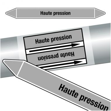 """Marqueurs de tuyauteries CLP """"Haute pression"""" (Vapeur)"""