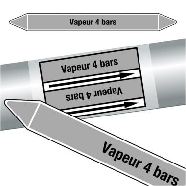 "Marqueurs de tuyauteries CLP ""Vapeur 4 bars"" (Vapeur)"