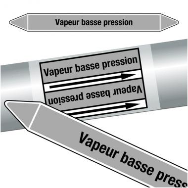 """Marqueurs de tuyauteries CLP """"Vapeur basse pression"""" (Vapeur)"""