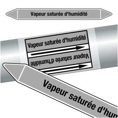 """Marqueurs de tuyauteries CLP """"Vapeur saturée d'humidité"""" (Vapeur)"""