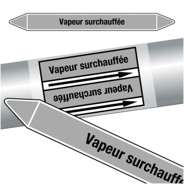"""Marqueurs de tuyauteries CLP """"Vapeur surchauffée"""" (Vapeur)"""
