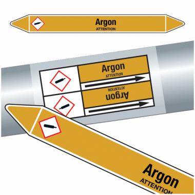 "Marqueurs de tuyauteries CLP ""Argon"" (Gaz)"