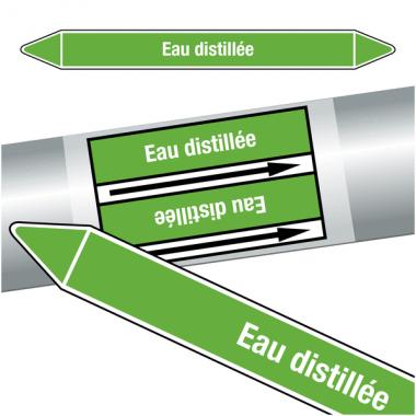 "Marqueurs de tuyauteries CLP ""Eau distillée"" (Eau)"