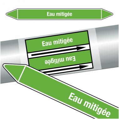 """Marqueurs de tuyauteries CLP """"Eau mitigée"""" (Eau)"""