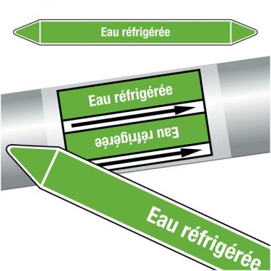 """Marqueurs de tuyauteries CLP """"Eau réfrigérée"""" (Eau)"""