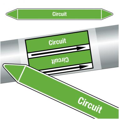 "Marqueurs de tuyauteries CLP ""Circuit"" (Eau)"