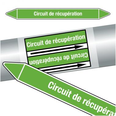 """Marqueurs de tuyauteries CLP """"Circuit de récupération"""" (Eau)"""