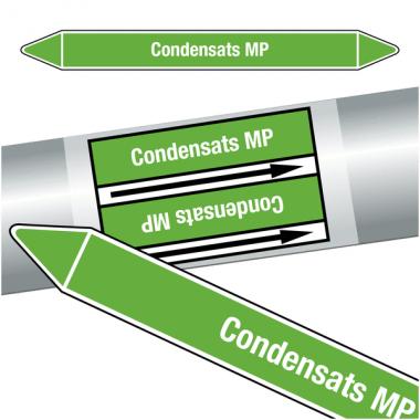 "Marqueurs de tuyauteries CLP ""Condensats MP"" (Eau)"