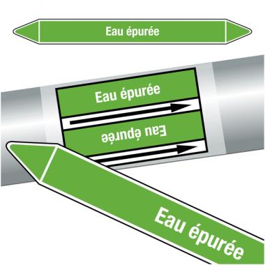 """Marqueurs de tuyauteries CLP """"Eau épurée"""" (Eau)"""