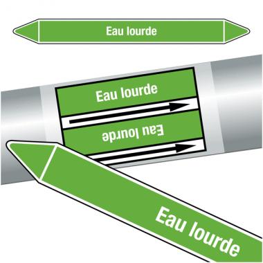"""Marqueurs de tuyauteries CLP """"Eau lourde"""" (Eau)"""