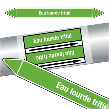 """Marqueurs de tuyauteries CLP """"Eau lourde tritié"""" (Eau)"""