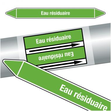 """Marqueurs de tuyauteries CLP """"Eau résiduaire"""" (Eau)"""