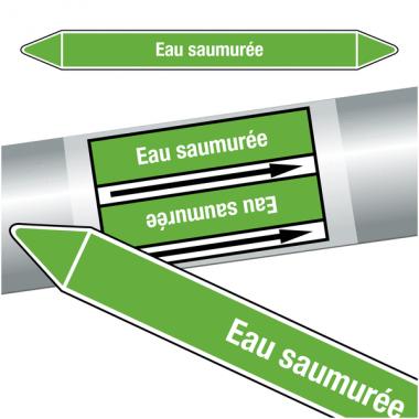 """Marqueurs de tuyauteries CLP """"Eau samurée"""" (Eau)"""