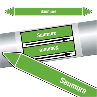 """Marqueurs de tuyauteries CLP """"Saumure"""" (Eau)"""
