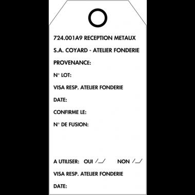 Plaquettes américaines d'inspection cartonnées personnalisées