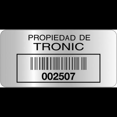 Etiquettes Duraguard en polyester métallisé laminé