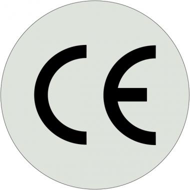 """Etiquettes en papier métallisé """"CE"""""""