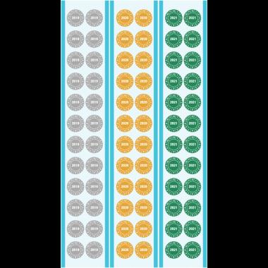 Prix Spécial - Kit de pastilles calendrier rondes en tissu plastifié - 3 années complètes