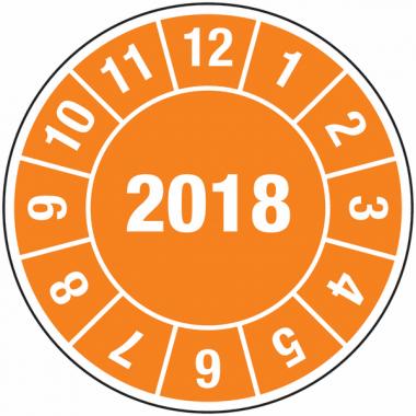 Pastilles calendrier rondes année complète en vinyle pour câbles électriques