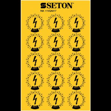 Pastilles calendrier millésimées pour installations électriques