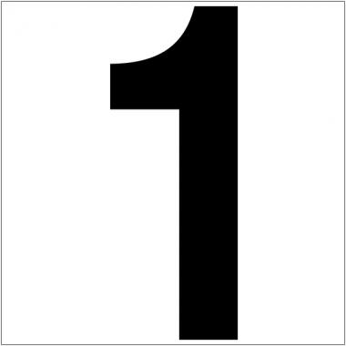Chiffres et lettres adhésifs colorés format A4