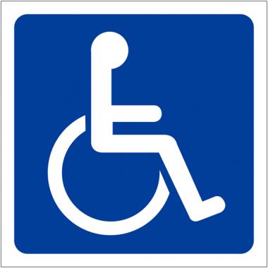 "Pochoirs symbole ""Handicapés"""