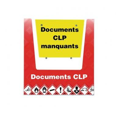 Porte-documents mural - Documents CLP