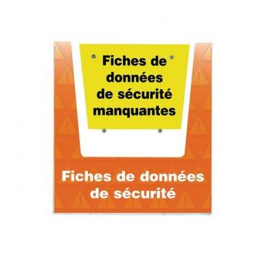 Porte-documents mural - Fiches de données de sécurité