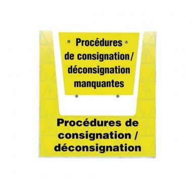 Porte-documents mural  - Procédures consignation / déconsignation