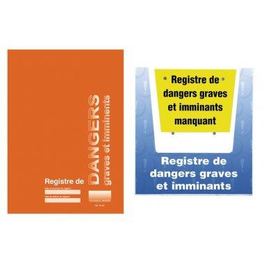 kit registre des dangers graves et imminants avec porte-documents mural