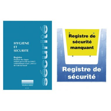kit registre hygiène et sécurité avec porte-documents mural