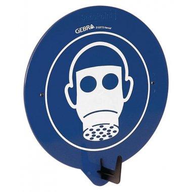 "Crochet porte-EPI avec pictogramme ""Masque de protection respiratoire obligatoire"""