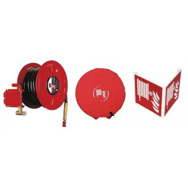 Kit robinet d'incendie armé avec signalisation