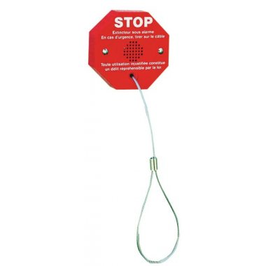 Alarme d'extincteur à câble