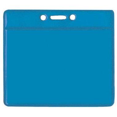 Pochettes porte-badge en plastique souple, dos coloré