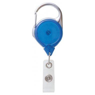 Enrouleur zip porte-badge, avec mousqueton