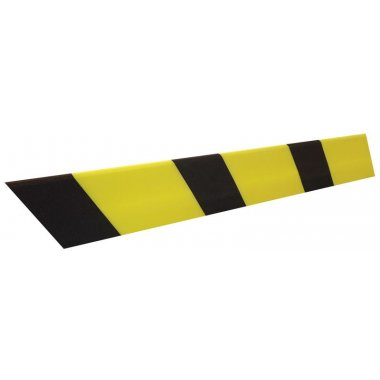 Butoirs de protection en mousse polyéthylène noirs et jaunes