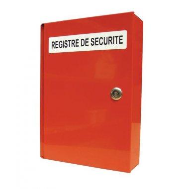 Coffre à registre de sécurité avec texte