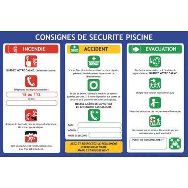 Consignes de sécurité à la piscine