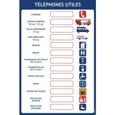 Consignes pour les téléphones utiles