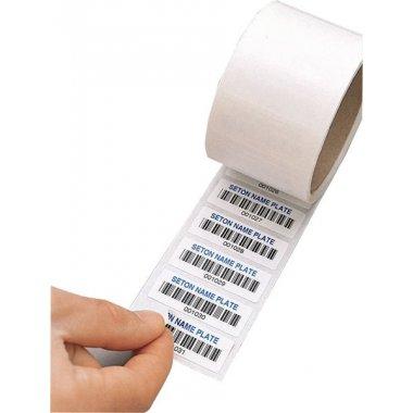 Etiquettes code à barres en papier double adhésif