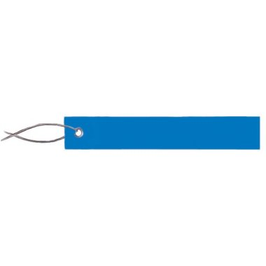 Etiquettes vierges en PVC et fil métallique
