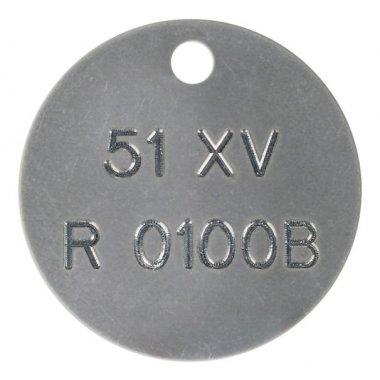 Marqueurs de vannes personnalisés estampés en inox ou aluminium